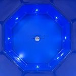 8 LED lámpa üvegszálas dézsához++