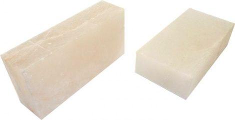 Fehér sótégla himalájai sókristályól 20*10*5 cm