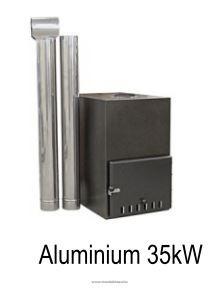 Külső kályha Aluminium 35KW Dézsa