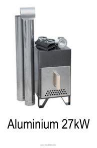 Külső kályha Dézsa Aluminium 27 Kw