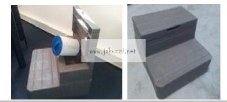 Lépcsö 01.04.02.0033 2 tier step grey with drawer
