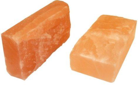 Sótégla himalájai sókristályból, rusztikus felületű 20*10*5 cm