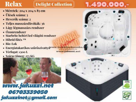 Delight Relax jakuzzi 204x204x85 cm 5 személyes++