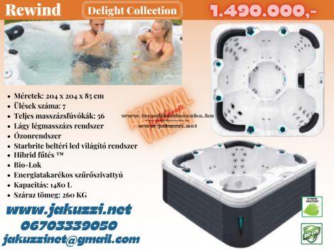 Delight Rewind jakuzzi 204x204x85 cm 7 személyes
